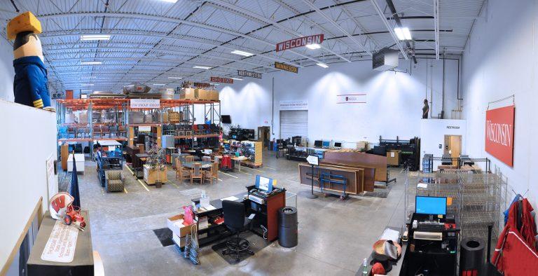 Panorama view of sales floor